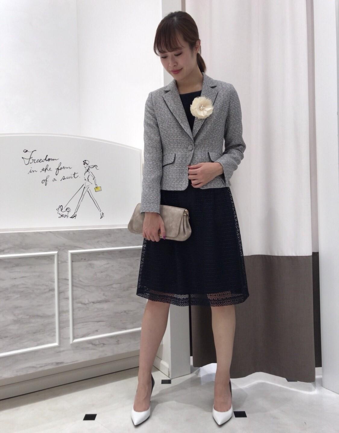 ☆入学式スーツを卒業式にも着回しコーディネート☆