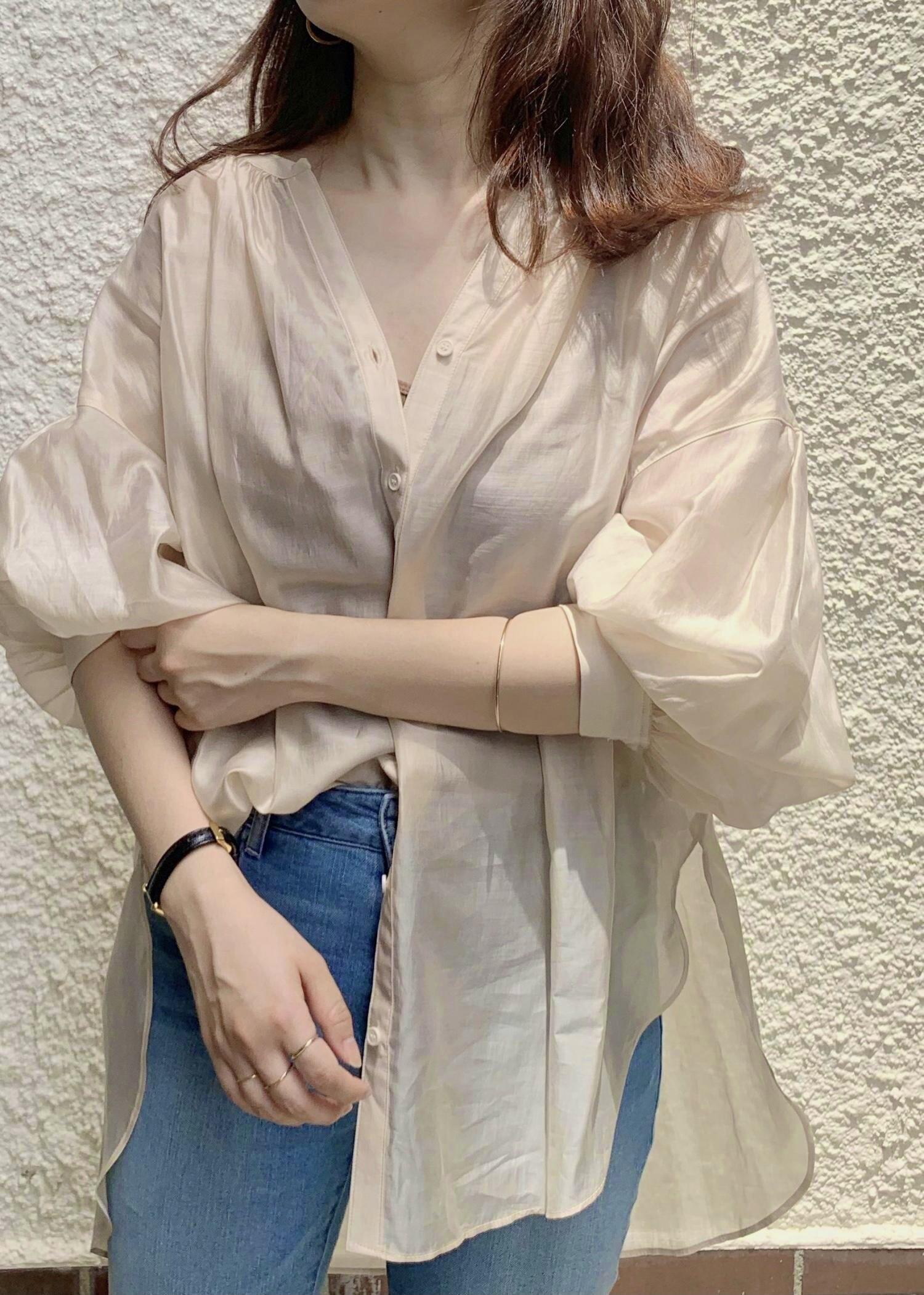 【ViS シア―バンドカラーシャツ身長別スタイリング✴】