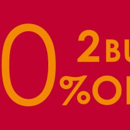 2BUY 10%OFF開催!!