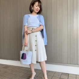 ON/OFF着回せる☆トレンチ風スカート☆☆