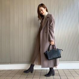 大人気コートに新色登場♪♪一着でおしゃれに仕上がるロングコート♡