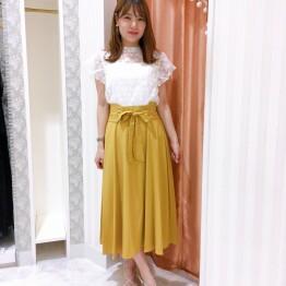 【40%OFF】落ち感キレイ♪ベルト付きスカート