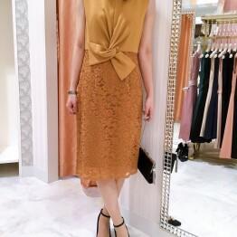 【sale】ネジリリボンタイトドレス