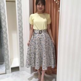 【再値下げ】花柄美シルエットスカート