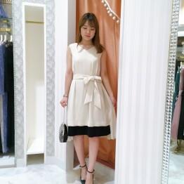 【50%OFF】段差配色ドレス