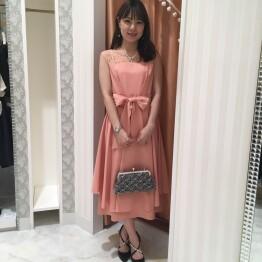 【特別価格】2段フレアロングドレス