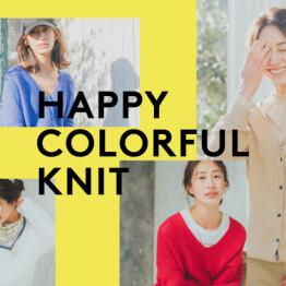 【春の新作】HAPPY COLORFUL KNIT