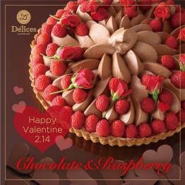 VD♪チョコレート&ラズベリータルト/ガトーショコラ