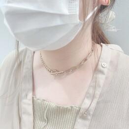 asymmetry metal necklace ⛓