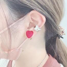 velour heart pierce ♡*+。