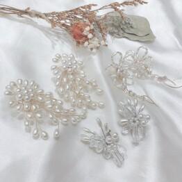 Pearl earring series.