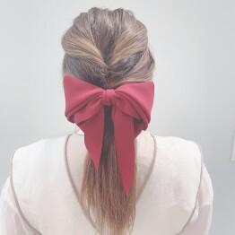 asymmetry ribbon barrette 🎀💕