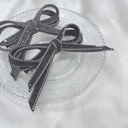 stone ribbon barrette *+。