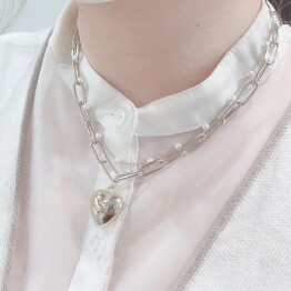 heart × Pearl necklace ♡*+。