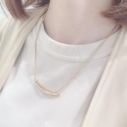 metal bar necklace *˚✧