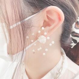 pearl × wire earring 🌹*+。