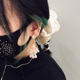 Flower Pearl Earring 🌷🌷🌷