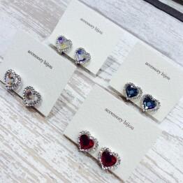 Heart bijou earring ❤︎*+。
