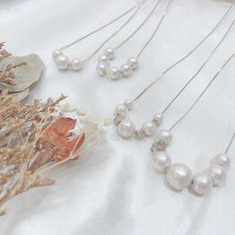 Cotton Pearl Necklace ◯*+。