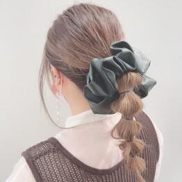 leather chouchou β*