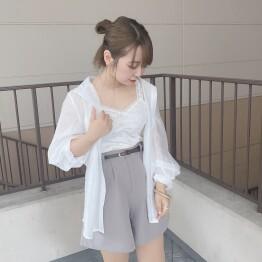シアーシャツ コーデ ☺︎